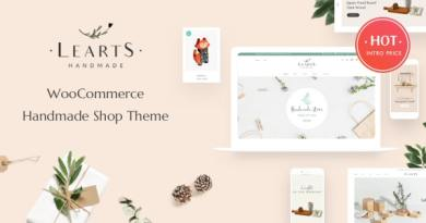 LeArts - Handmade Shop WooCommerce WordPress Theme 3