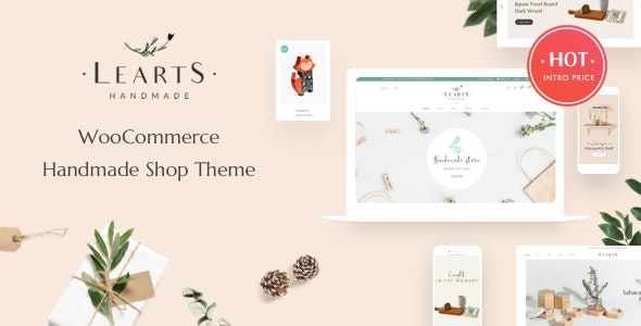LeArts - Handmade Shop WooCommerce WordPress Theme 1
