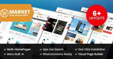Market - Digital Store & Fashion Shop WooCommerce WordPress Theme 3