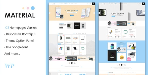 Material - Electronics WooCommerce WordPress Theme 1
