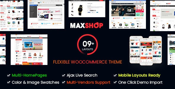Maxshop | Multi-Purpose Responsive WooCommerce Theme (9+ Homepages & Mobile Layouts Ready) 6