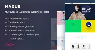 Maxus - Multipurpose eCommerce WordPress Theme 3
