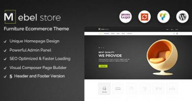Mebel - Responsive Furniture & Book Store WordPress Theme 4