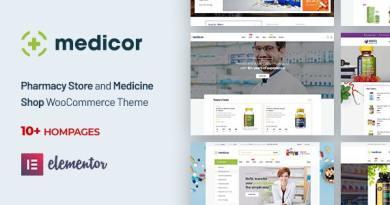 Medicor - Medical Clinic & Pharmacy WooCommerce WordPress Theme 2