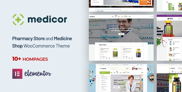 Medicor - Medical Clinic & Pharmacy WooCommerce WordPress Theme 1