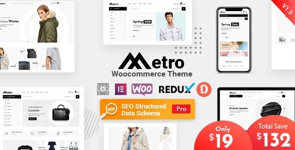 Metro – Minimal WooCommerce WordPress Theme 1