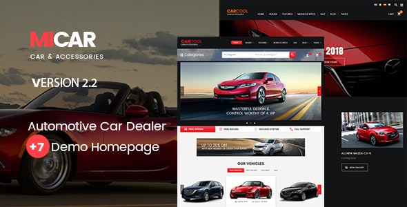Micar - Auto Dealer RTL WooCommerce WordPress for Car and Moto Theme 1