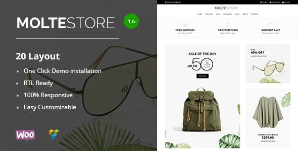 Molte - Store Fashion and Food WooCommerce Theme 1