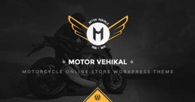 Motor Vehikal - Motorcycle Online Store WordPress Theme 2