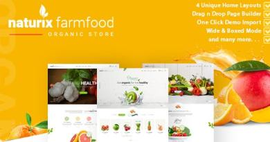 Naturix - Organic Store Woocommerce Theme with Drag n Drop Page Builder 4