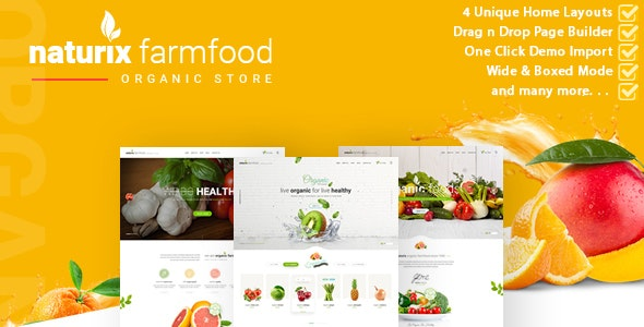 Naturix - Organic Store Woocommerce Theme with Drag n Drop Page Builder 1