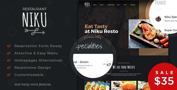 Niku - Restaurant & Food Menus WooCommerce Theme 2