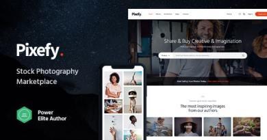 Pixefy | Stock Photography Marketplace Theme 52