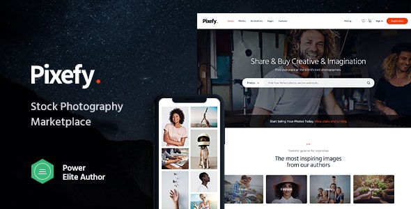 Pixefy | Stock Photography Marketplace Theme 6