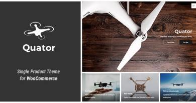 Quator - Single Product WordPress Theme 4
