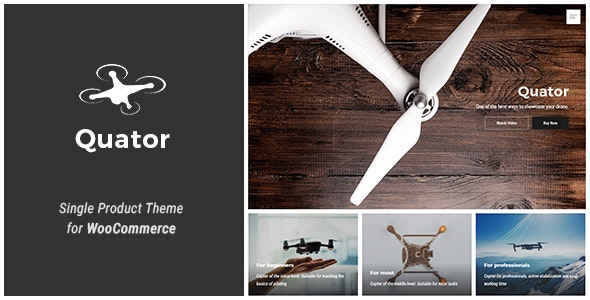 Quator - Single Product WordPress Theme 1