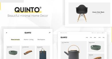 Quinto - Minimal Furniture & Fashion WooCommerce Theme 2