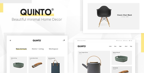 Quinto - Minimal Furniture & Fashion WooCommerce Theme 1