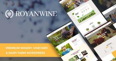 Royanwine - Wine store & Dairy Farm WordPress Theme 2
