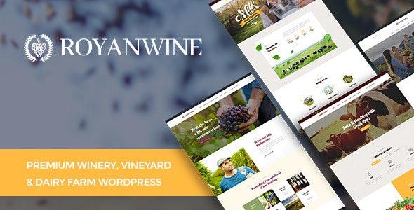 Royanwine - Wine store & Dairy Farm WordPress Theme 1