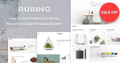 Rubino - Minimal & Creative WooCommerce Theme 4