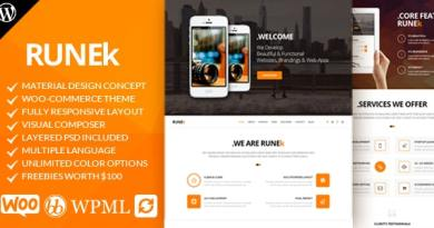 Runek - Material Design WordPress Theme 4