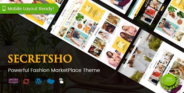 SecretSho - Fashion Shop WordPress WooCommerce MarketPlace Theme (Mobile Layout Included) 1
