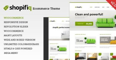 Shopifiq - Responsive WordPress WooCommerce Theme 3