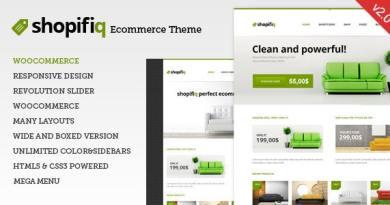 Shopifiq - Responsive WordPress WooCommerce Theme 4