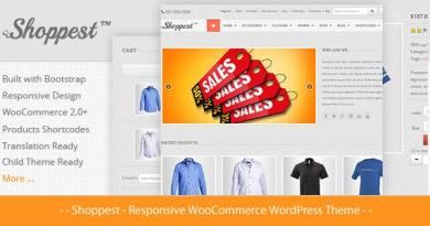 Shoppest - Responsive WooCommerce WordPress Theme 2