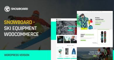 Snowboard - Ski Equipment WooCommerce WordPress Theme 2