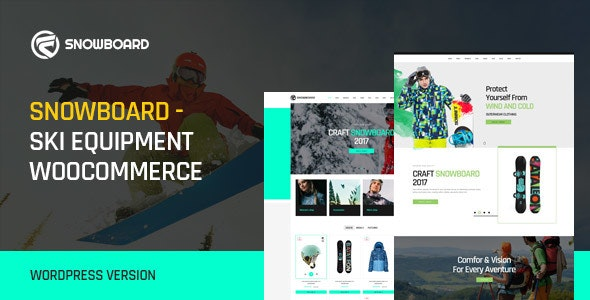 Snowboard - Ski Equipment WooCommerce WordPress Theme 1