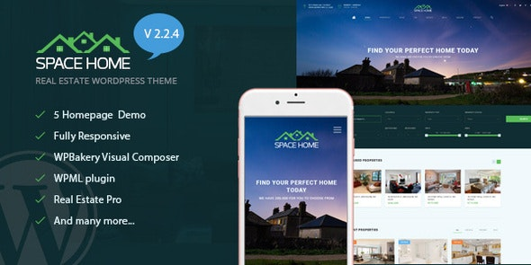 Space Home - Real Estate WordPress Theme 3
