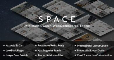 Space - Minimalist, Clean WooCommerce Theme 3