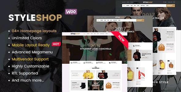 StyleShop - Responsive Clothing/ Fashion Store WordPress WooCommerce Theme (Mobile Layout Ready) 1
