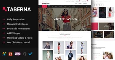 Taberna - Fashion & Electronic WooCommerce Theme 3