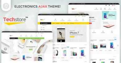 Techstore Electronics AJAX Woocommerce Theme 2