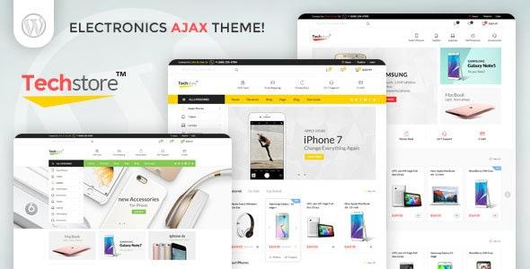 Techstore Electronics AJAX Woocommerce Theme 4
