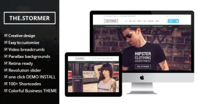 The Stormer - Fashion Apparel eCommerce & WooCommerce Theme 3