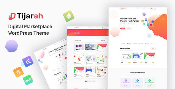 Tijarah - Digital Marketplace WooCommerce Theme 1