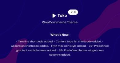 Toko - WooCommerce Multipurpose Theme 2