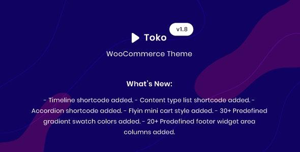 Toko - WooCommerce Multipurpose Theme 1