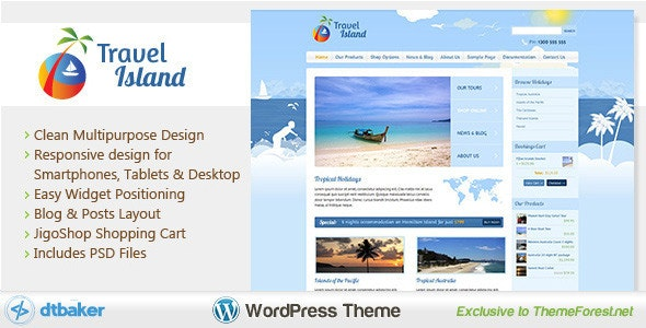 Travel Island WordPress 6