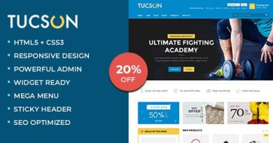 Tucson - Sports, Fitness and Gym Responsive WooCommerce WordPress Theme 4
