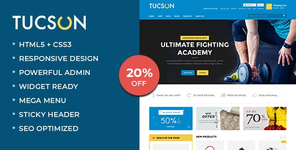 Tucson - Sports, Fitness and Gym Responsive WooCommerce WordPress Theme 1
