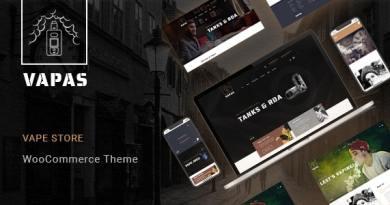 Vapas – Vape Store WooCommerce WordPress Theme 2