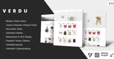 Verdu - Creative Multiuse eCommerce Theme - Minimalist WooCommerce 3