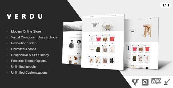 Verdu - Creative Multiuse eCommerce Theme - Minimalist WooCommerce 1