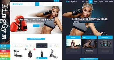 VG Kinggym - Fitness, Gym and Sport WordPress Theme 2