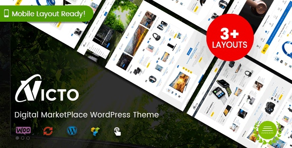 Victo - Digital MarketPlace WordPress Theme (Mobile Layouts Included) 7